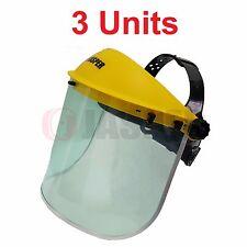 3 x Jasper Browguard Face Shield Clear Visor - CE EN166 CE EN1731 Tracking #