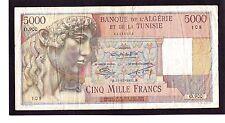 Algeria 5000 Francs banknote  P-109a 1951   VG