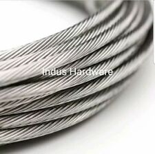 "350' 1/8"" 1x19 Strand Stainless Steel Cable Best for Cable Railing T316L"