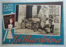 LA MAESTRINA fotobusta locandina auto d'epoca Isotta Fraschini 1942 Nino Besozzi