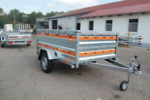 PKW-Anhänger 750 kg ca. 205x 125x 80 cm EXTRABREITE Bordwandaufsatz Plane