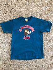 Bape A Bathing Ape x POPEYE Face Logo College T-Shirt Navy Blue Medium NEW