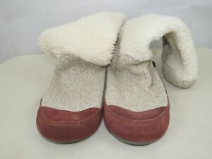 Acorn Slouch Boot Slippers Women's Size 8-9 Buff Popcorn