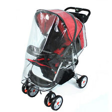Baby Cart Rain Cover Weatherproof Super Thick Windshield Stroller Raincoat