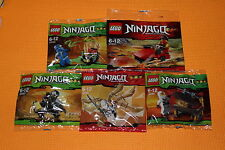 Lego Ninjago Collection - 30080 + 30085 + 30086 + 30087 + 30293 *New & Sealed*