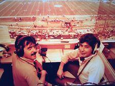 1984 Super Q Broadcasting Booth Shot Negative Press News Photo Sports Football