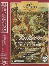 Beethoven Piano Concerto Emperor CASSETTE ALBUM Great Composers 15 Arrau Haitink
