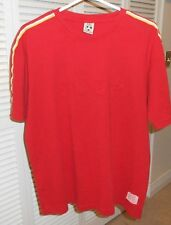 Bb London Vintage Cccp Soccer Shirt Red Cotton Size Large