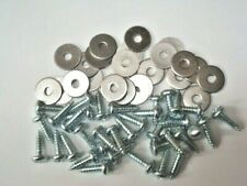 LAND ROVER SERIES 2 2A & 3 - STAINLESS STEEL FLOOR SCREWS & WASHERS QTY 60
