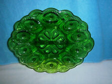 Vintage Emerald Green Deviled Egg Platter, Anchor Hocking?