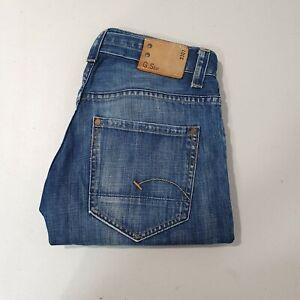 G-STAR Raw 3301 Denim Jeans Men's Size W33 L32 Indigo Blue Wash RN104506