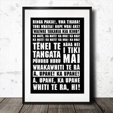 new zealand haka rugby lyrics poster anthem