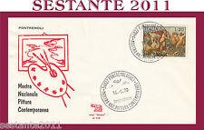ITALIA FDC ROMA A 116 MOSTRA NAZ.ALE PITTURA CONTEMPORANEA 1970 PONTREMOLI Q314