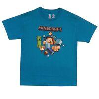 Minecraft Run Away! With Logo Steve Creeper Gamer Youth Kids T Shirt