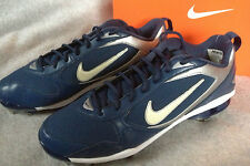 new $105 Nike Shox Fuse 2 Baseball Metal Blue Cleats 375764-411 Shoes Men's 13.5