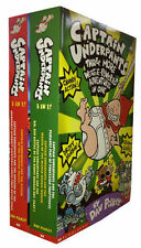Captain Underpants Children's Book Set 6 Titles in 2 Books brand new UK set PB