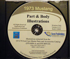 1973 Mustang Part and Body Illustrations (CD-ROM)
