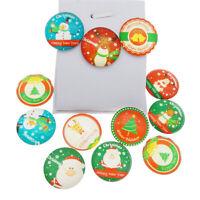 10-50PCS Mixed Christmas Deer Tree Flatback Cabochon Ornament DIY Accessories