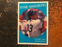 Ryne Sandberg Cubs 1991 Oddball Glossy 1959 Topps Style Card
