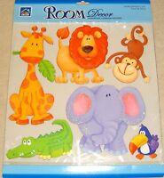 Baby Kids Girls Boys Bedroom Jungle Animals Wall Stickers Decals Stickarounds