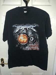 DRAGONFORCE – 2006 UK tour T-shirt, double sided, size M Inhuman Rampage