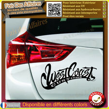 Sticker Autocollant west coast customs choppers decal tuning decoration westcoat