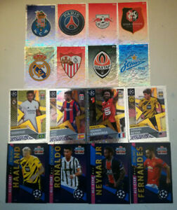 TOPPS 2020/21 UEFA CHAMPIONS LEAGUE OFFICIAL STICKER COLLECTION POR to ZSP AS RS