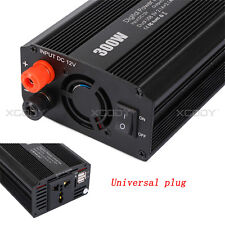 Pure Sine Wave Power Inverter 300W/600W(max) 12VDC-220VAC 2 USB Fit to Car Boat