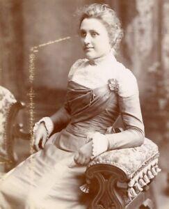 Sinclair Kirkwall portrait young lady cabinet photograph card cdv antique #37