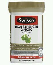 Swisse Ultiboost Ginkgo Biloba 60 Tablets - OzHealthExperts