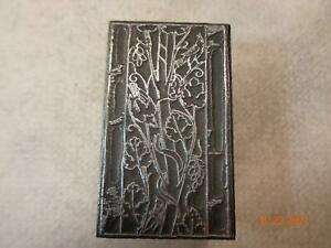 Printing Letterpress Printer Block Art Nouveau Vines Bird & Snake Print Cut