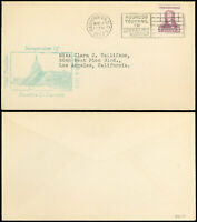 1933 Franklin Delano Roosevelt Inauguration Cover, Blue-Green H/S Cachet to Cali