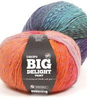 Gradient worsted wool yarn BIG DELIGHT, aran yarn in 3.5 oz (100 g) balls