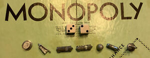 Monopoly Playing Pieces and Dice