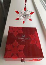 Swarovski 2010 large annual Holiday Red Tip snowflake ornament in Keepsake Box !