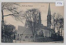 1612, Berlin - Pankow Kirche von der Straße aus gesehen gelaufen 1913 !