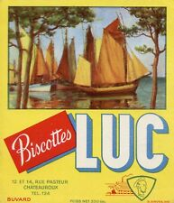 BUVARD PUBLICITAIRE / BISCOTTES LUC / CHATEAUROUX / BATEAUX