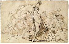 Altmeisterliche Federzeichnung von Raymond De Lafage - 1700 Jh.