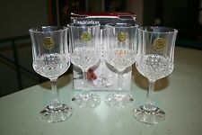 Cristal De Flandre Fascination Wine Goblets New Boxed 24% Lead Crystal Set of 4