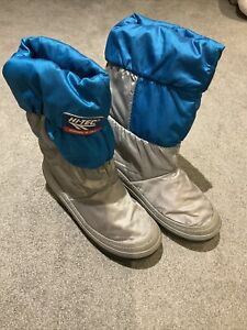 Vintage Style Hi Tec Turquoise Snow Moon Boots EU39-40 UK 6-6.5 Fleece Apres Ski
