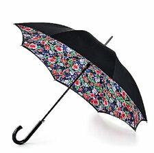 Fulton Bloomsbury-2 Spring Rose Gardent Auto Open Long Walking Umbrella