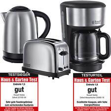 Russell Hobbs Oxford Frühstück Set Kaffeemaschine Wasserkocher Toaster Edelstahl