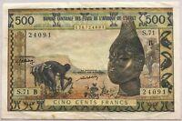 AFRIQUE DE L'OUEST - 500 FRANCS - Billet de banque // Qualité : TTB
