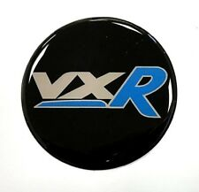 Vauxhall VXR Blue Sticker 70mm Diameter HIGH GLOSS DOMED GEL FINISH - Corsa