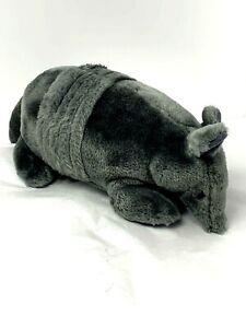 "Russ Berrie Vintage Plush Alamo the Armadillo Grey 11"" Stuffed Animal Toy"
