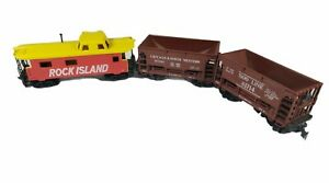 Rock Island Tyco HO Scale Caboose and Car Set 121361 Chicago NW SOO Line 81714