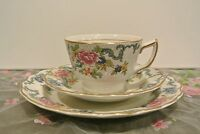 Vintage Royal Doulton Booth's Floradora Fine Bone China  Trio Cup, Saucer,Plate