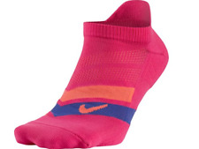 NIKE Performance Cushioned No Show Running Socks Women (6-8) Men (6-10) Pink