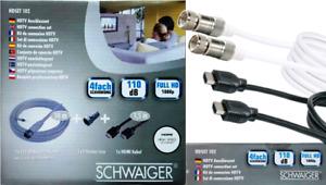 SCHWAIGER® HDTV SAT Anschlussset - HDMI Kabel / Fernseher Anschluss / F- Stecker