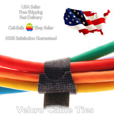 "VELCRO Brand Cable Cord Ties Reusable Organizer Die Cut Straps 8"" x 1/2"" 6 PCS"